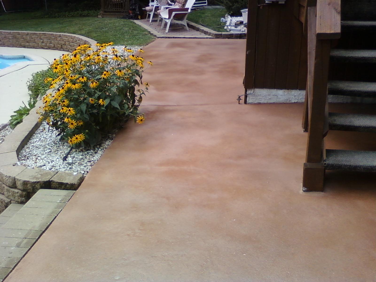 Decorative Concrete patio in PA