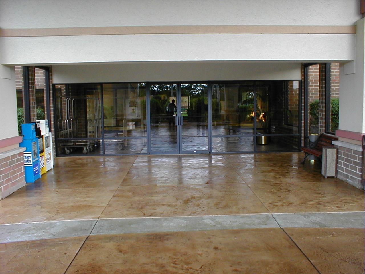 decorative concrete for hotel