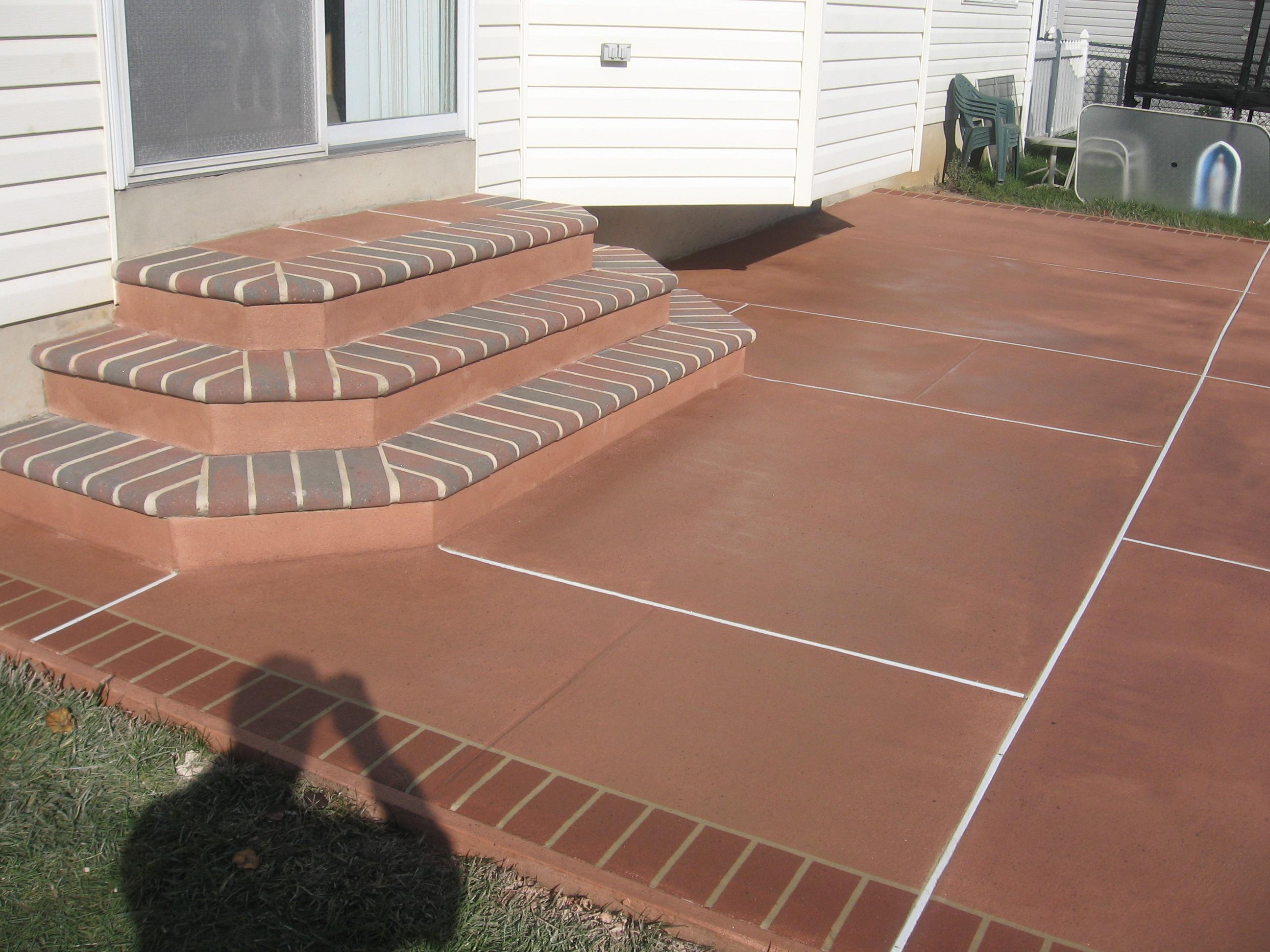 non slip patios with custom design