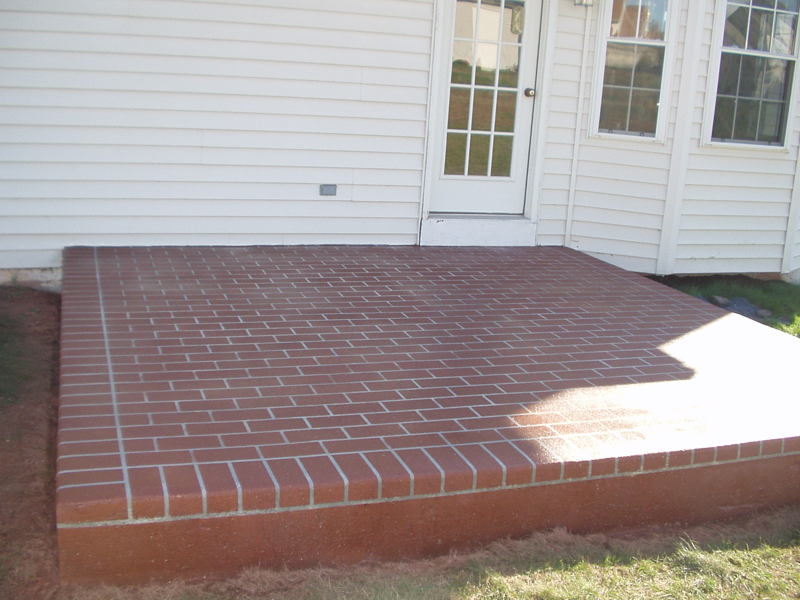 patio with brick designs in PA