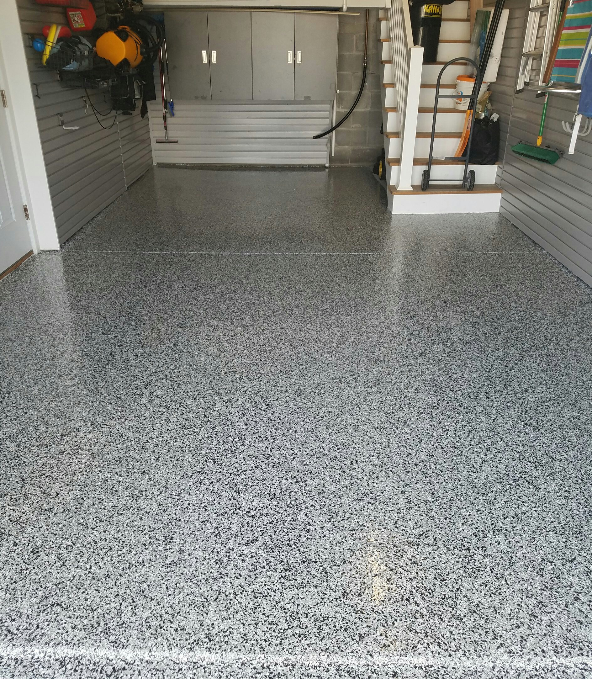 Epoxy Garage Flooe - Philadelphia Concrete Floor on how to paint, how to coat rock floor, how to stain garage floor, how to coat garage floor, epoxy concrete floor, how to carpet garage floor,